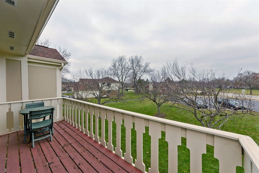 Real Estate Photography - 1056 Deerpath Court, Unit B2, Wheeling, IL, 60090 - Balcony