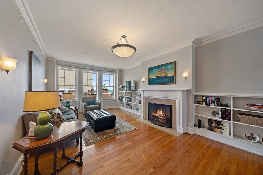 Real Estate Photography - 1120 N. Lake Shore Drive, Unit 11C, Chicago, IL, 60611 - Living Room