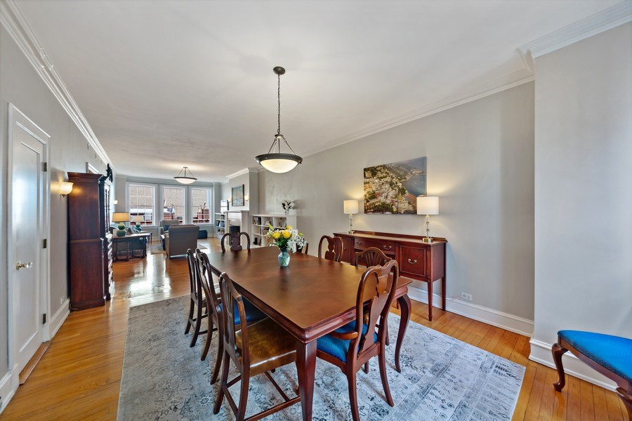 Real Estate Photography - 1120 N. Lake Shore Drive, Unit 11C, Chicago, IL, 60611 - Living Room/Dining Room