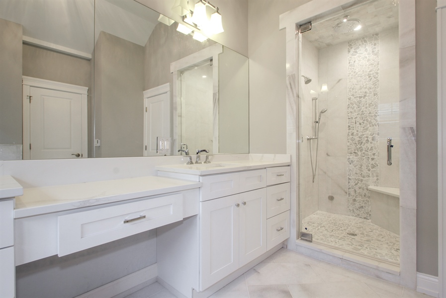 Real Estate Photography - 2022 Dewes Street, Glenview, IL, 60025 - Master Bathroom