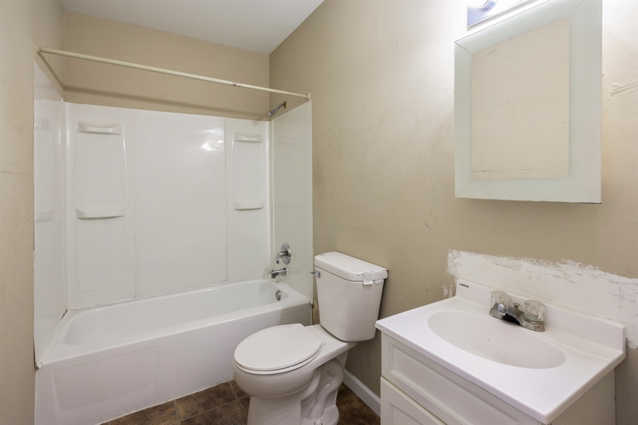 Real Estate Photography - 1208 Hague Street, Joliet, IL, 60432 - Bathroom