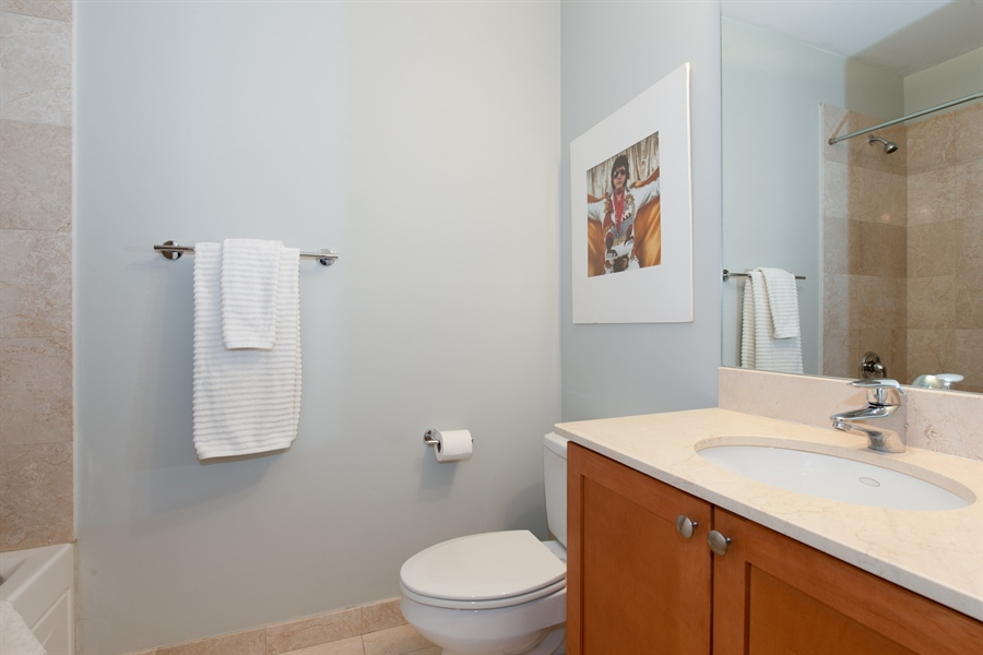 Real Estate Photography - 1600 N. MARSHFIELD Avenue, Unit 306, Chicago, IL, 60622 - 2nd Bathroom