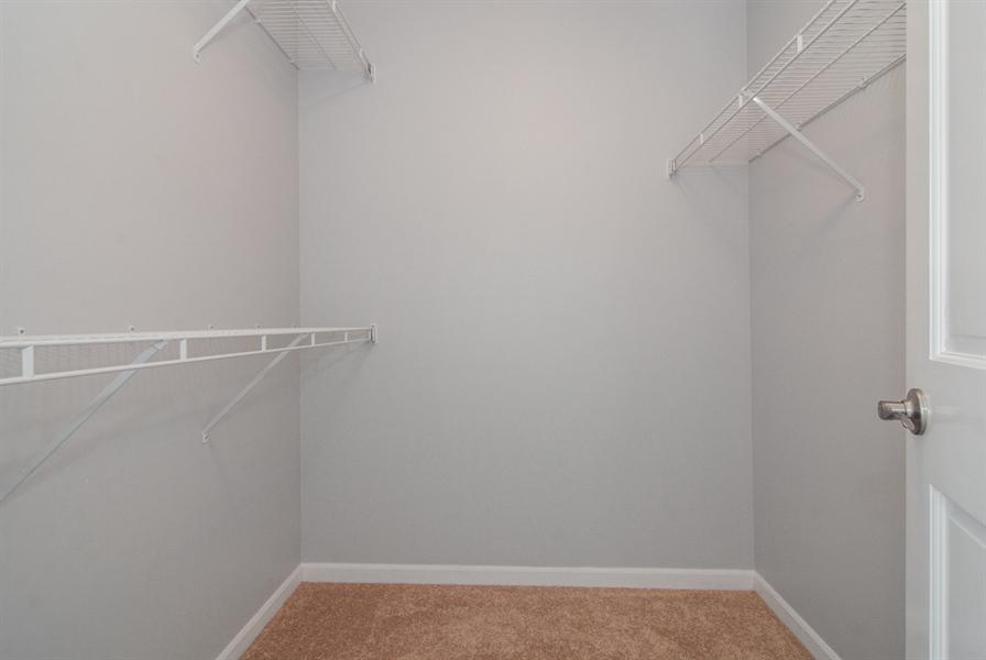 Real Estate Photography - 188 Brompton Drive, Unit A, Sugar Grove, IL, 60554 - Master Bedroom Closet