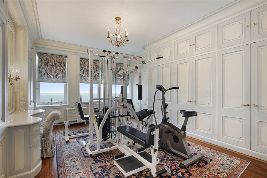 Real Estate Photography - 1500 N. Lake Shore Drive, Unit 11-12B, Chicago, IL, 60610 - Master Dressing Room / Exercise Room