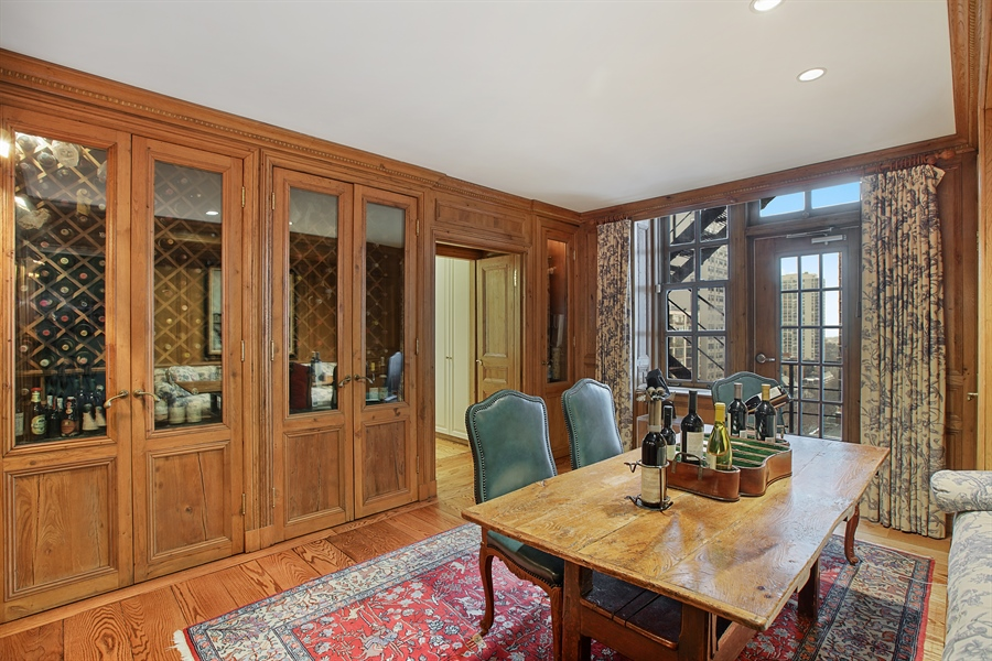 Real Estate Photography - 1500 N. Lake Shore Drive, Unit 11-12B, Chicago, IL, 60610 - Wine Room
