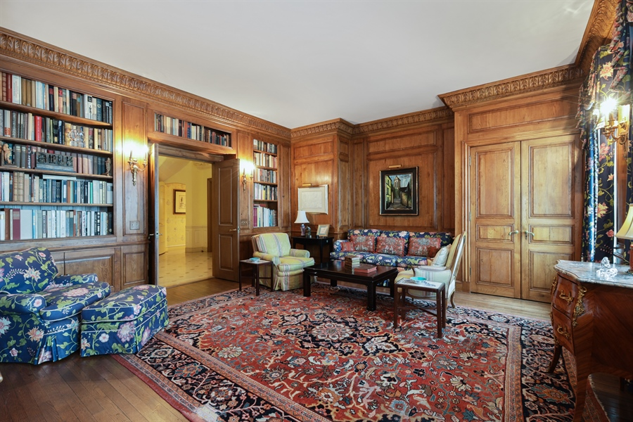 Real Estate Photography - 1500 N. Lake Shore Drive, Unit 11-12B, Chicago, IL, 60610 - Library