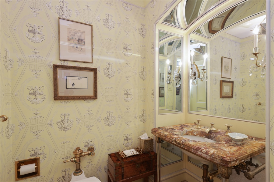 Real Estate Photography - 1500 N. Lake Shore Drive, Unit 11-12B, Chicago, IL, 60610 - Powder Room