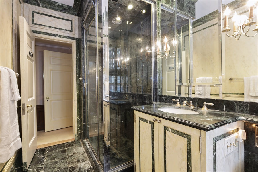 Real Estate Photography - 1500 N. Lake Shore Drive, Unit 11-12B, Chicago, IL, 60610 - Bathroom Upper Level