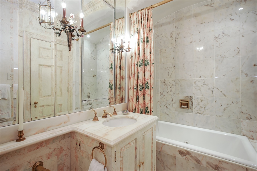 Real Estate Photography - 1500 N. Lake Shore Drive, Unit 11-12B, Chicago, IL, 60610 - Bathroom En-Suite Upper Level