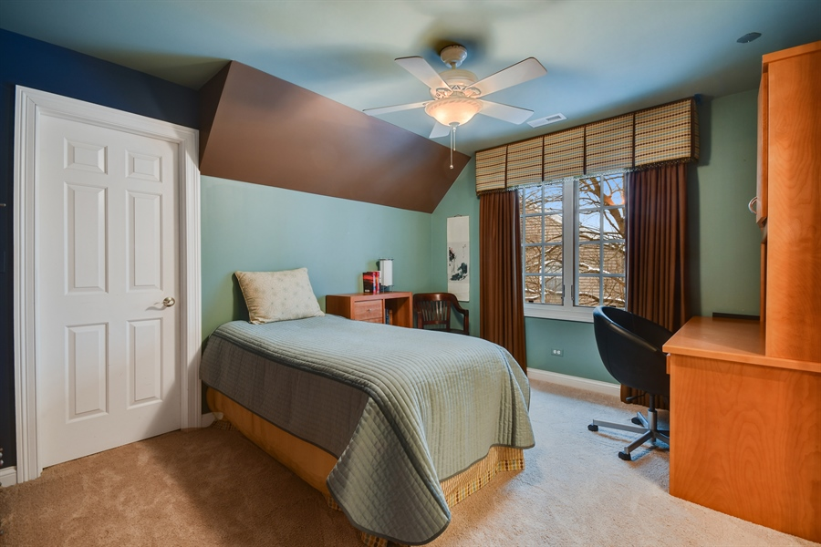 Real Estate Photography - 1221 Millet Street, Naperville, IL, 60563 - BR 2 has its own entry to J & J bath & WI attic