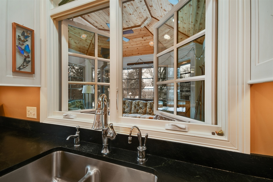 """Real Estate Photography - 1221 Millet Street, Naperville, IL, 60563 - Great view of the """"Cottage"""" porch"""