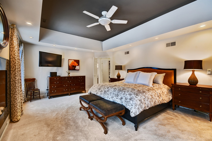 Real Estate Photography - 1221 Millet Street, Naperville, IL, 60563 - Special lighting & ceiling detail in the MBR Suite