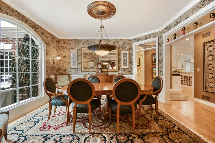 Real Estate Photography - 1221 Millet Street, Naperville, IL, 60563 - Picture window views in the dining room
