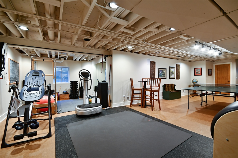 Real Estate Photography - 1221 Millet Street, Naperville, IL, 60563 - Plenty of flex space for your workouts & games