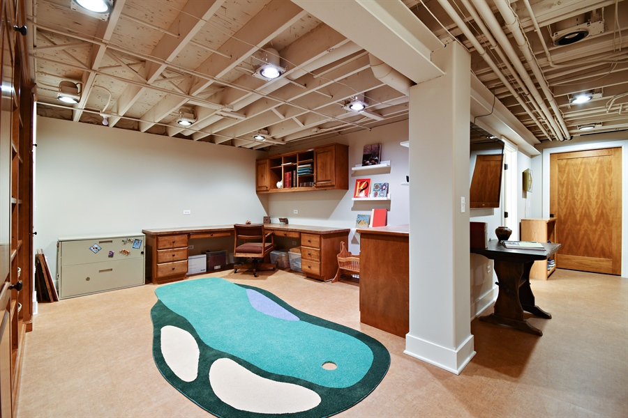 Real Estate Photography - 1221 Millet Street, Naperville, IL, 60563 - Craft/office area or sharpen your putting