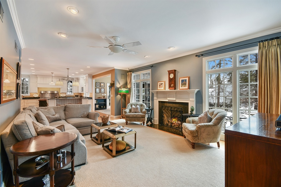 Real Estate Photography - 1221 Millet Street, Naperville, IL, 60563 - Comfort & style in the roomy family room