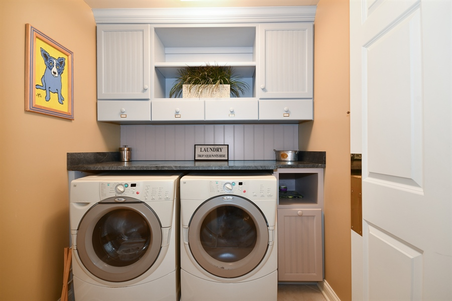 Real Estate Photography - 1221 Millet Street, Naperville, IL, 60563 - Custom added 2nd floor laundry center