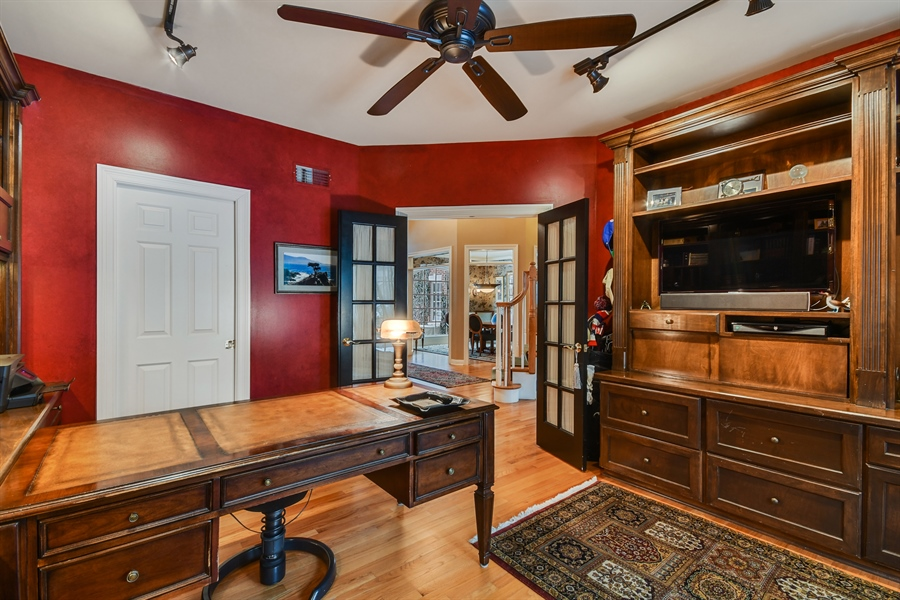 Real Estate Photography - 1221 Millet Street, Naperville, IL, 60563 - 1st floor study has full bath adjacent for 5th BR