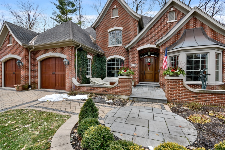 Real Estate Photography - 1221 Millet Street, Naperville, IL, 60563 - The inviting blue stone front porch has its own FP