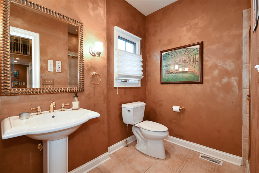 Real Estate Photography - 1221 Millet Street, Naperville, IL, 60563 - Full 1st floor bath adjacent to study