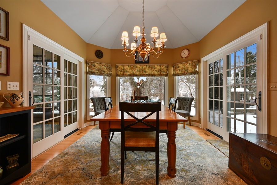 """Real Estate Photography - 1221 Millet Street, Naperville, IL, 60563 - Walk-out to the patios or into the """"Cottage"""" Porch"""