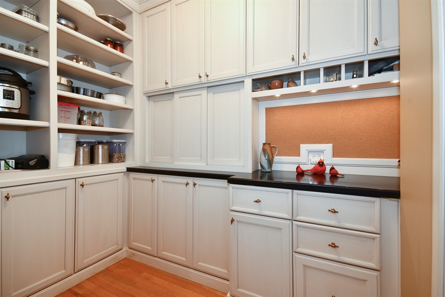 Real Estate Photography - 1221 Millet Street, Naperville, IL, 60563 - Custom walk-in pantry & Chef's office