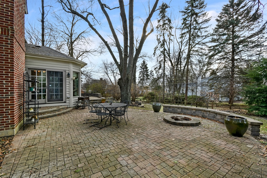 Real Estate Photography - 1221 Millet Street, Naperville, IL, 60563 - Paver patios- this one with a firepit