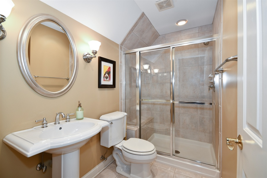 Real Estate Photography - 1221 Millet Street, Naperville, IL, 60563 - Ensuite bath for the 4th BR