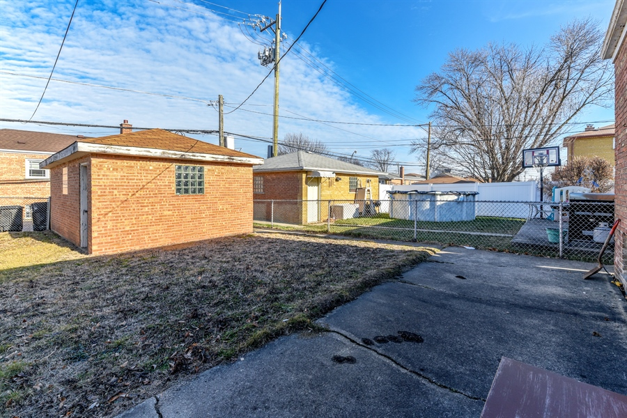Real Estate Photography - 6638 W. 63rd Street, Chicago, IL, 60638 - Back Yard