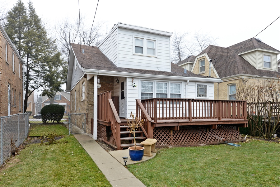 Real Estate Photography - 7339 W. Greenleaf Avenue, Chicago, IL, 60631 - Rear View
