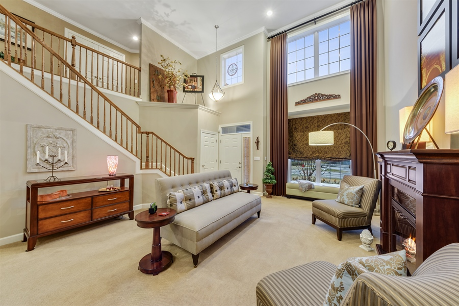 Real Estate Photography - 705 Fieldstone Court, Inverness, IL, 60010 - Living Room
