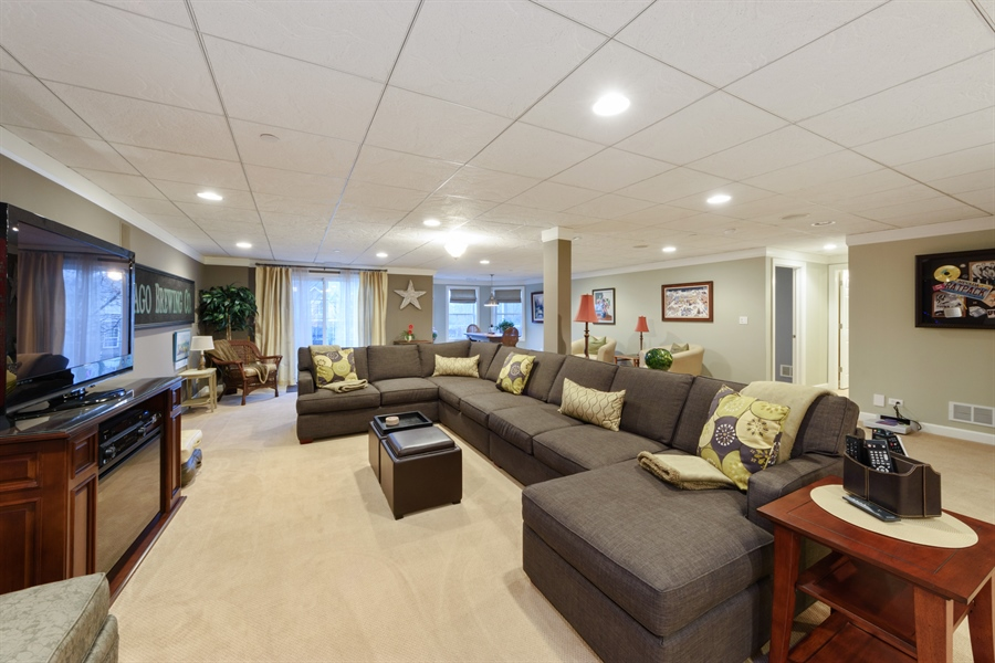 Real Estate Photography - 705 Fieldstone Court, Inverness, IL, 60010 - Recreational Room