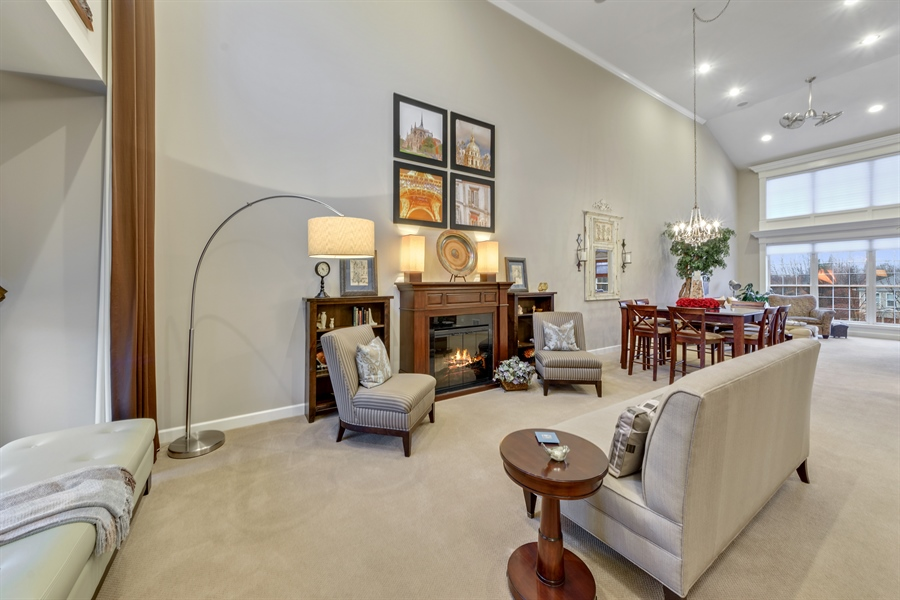 Real Estate Photography - 705 Fieldstone Court, Inverness, IL, 60010 - Living Room / Dining Room