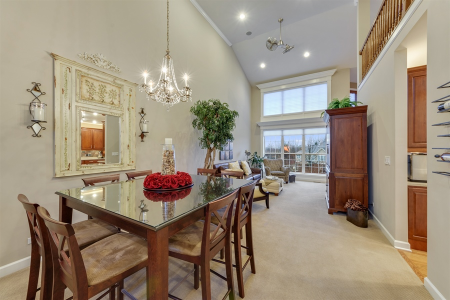 Real Estate Photography - 705 Fieldstone Court, Inverness, IL, 60010 - Family Room / Dining Room