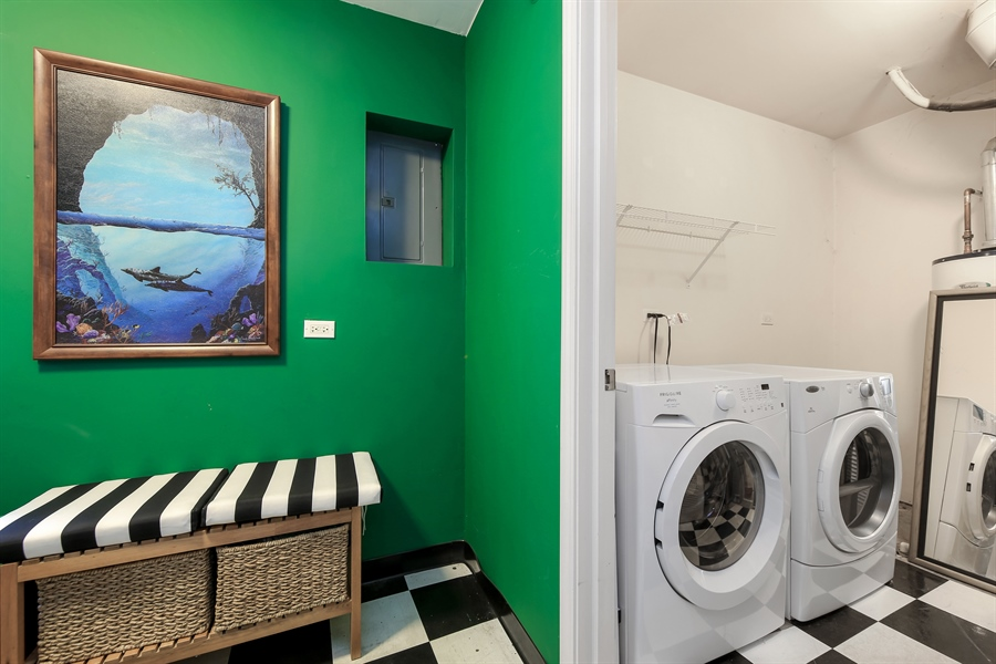 Real Estate Photography - 2293 Hudson Circle, Unit 0, Aurora, IL, 60502 - Laundry Room