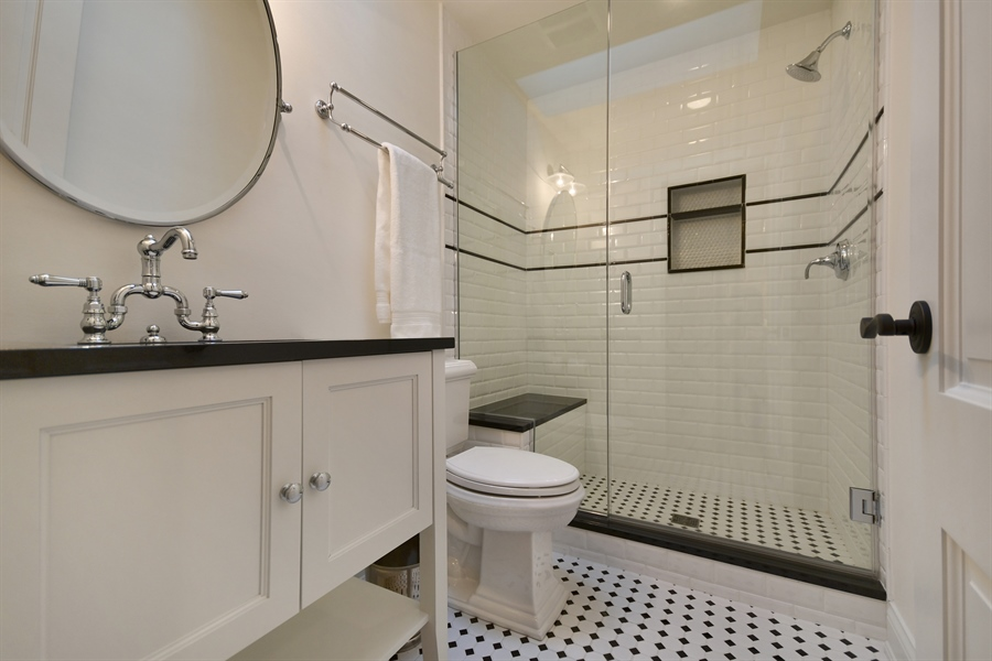 Real Estate Photography - 204 S. 5th Street, Geneva, IL, 60134 - 2nd Bathroom
