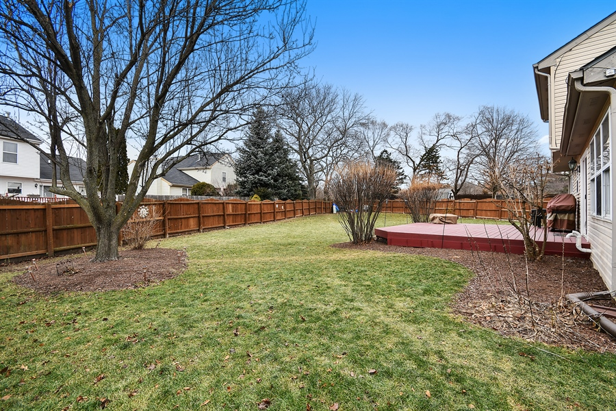 Real Estate Photography - 599 Ryegrass Circle, Aurora, IL, 60504 - Rear View