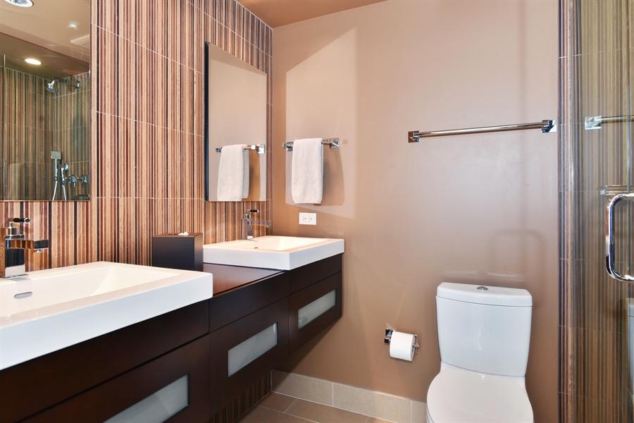 Real Estate Photography - 111 E. Chestnut Street, Unit 43A, Chicago, IL, 60611 - Master Bathroom