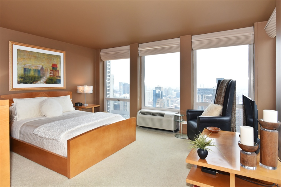 Real Estate Photography - 111 E. Chestnut Street, Unit 43A, Chicago, IL, 60611 - Master Bedroom