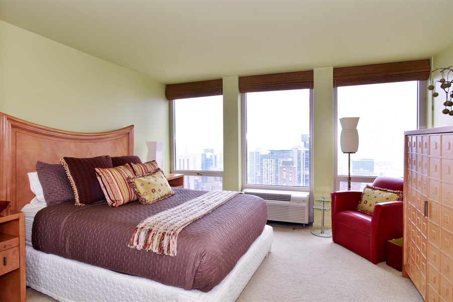 Real Estate Photography - 111 E. Chestnut Street, Unit 43A, Chicago, IL, 60611 - 2nd Bedroom