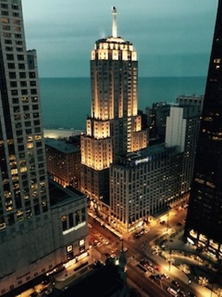 Real Estate Photography - 111 E. Chestnut Street, Unit 43A, Chicago, IL, 60611 - Night View