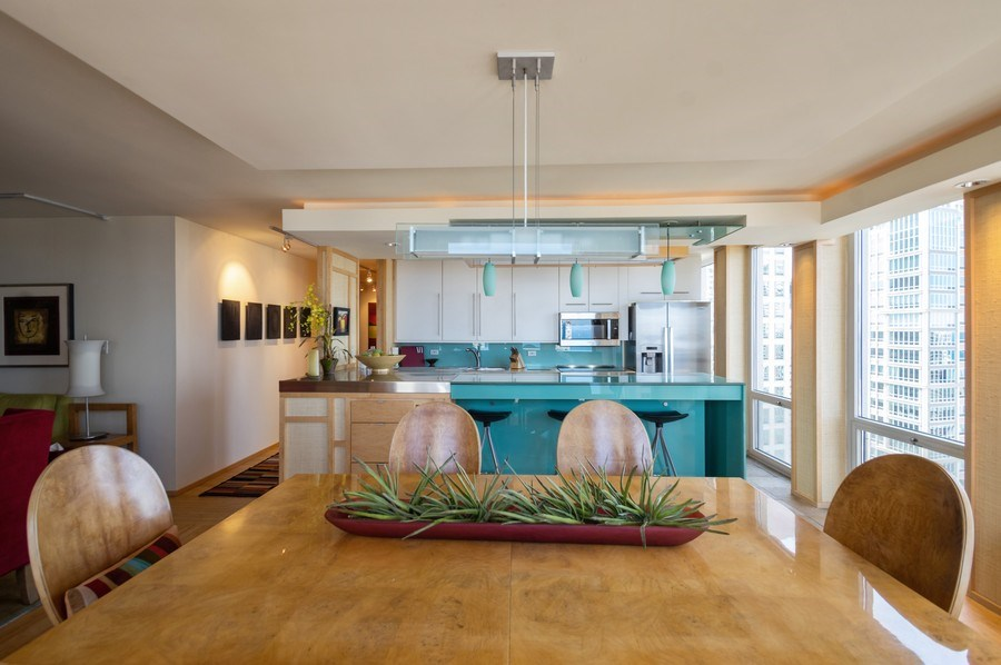 Real Estate Photography - 111 E. Chestnut Street, Unit 43A, Chicago, IL, 60611 - Kitchen / Dining Room