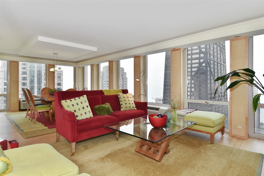 Real Estate Photography - 111 E. Chestnut Street, Unit 43A, Chicago, IL, 60611 - Living Room / Dining Room