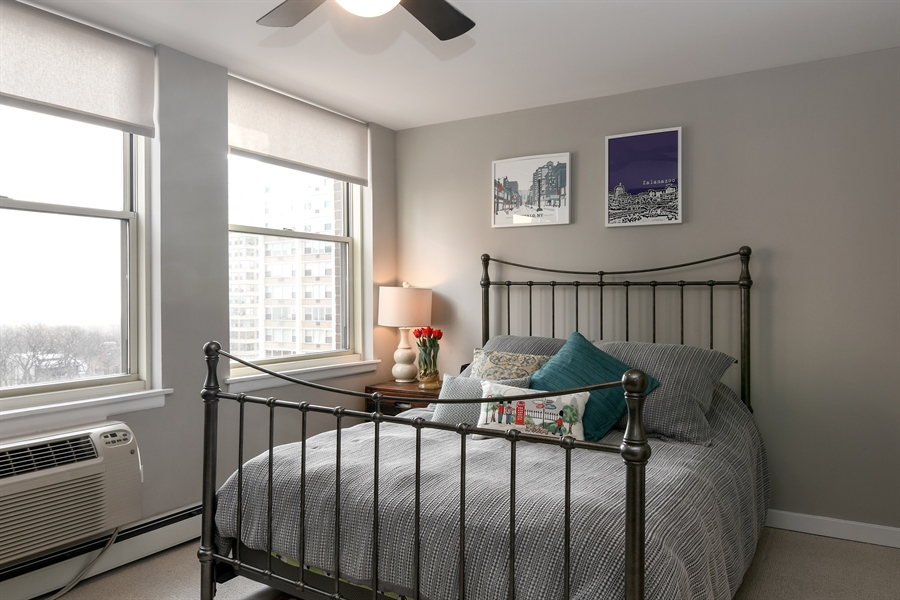 Real Estate Photography - 3033 N. Sheridan Road, Unit 1004, Chicago, IL, 60657 - Bedroom