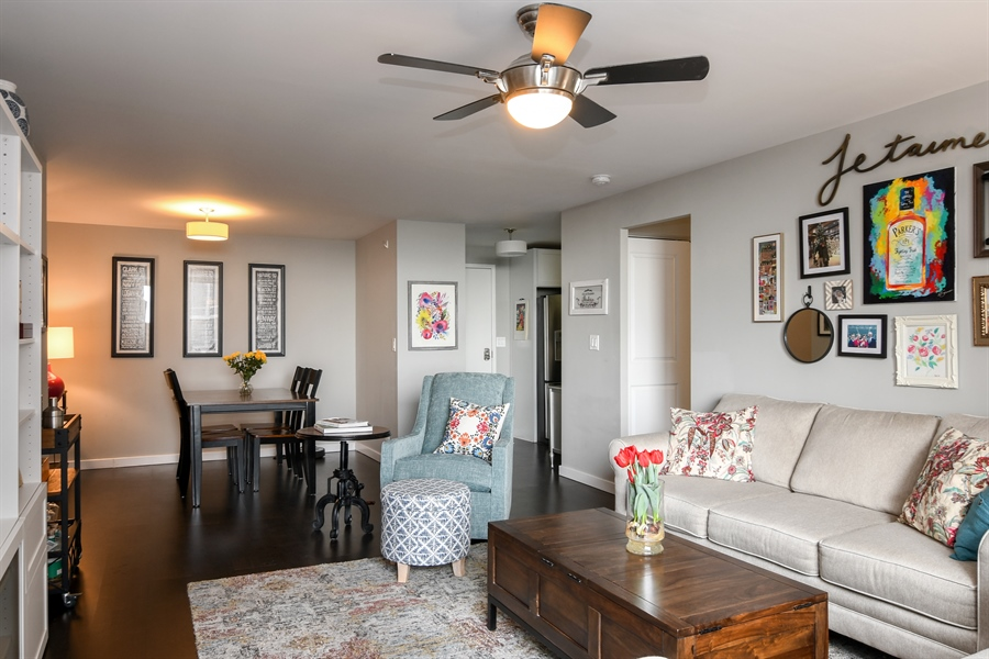 Real Estate Photography - 3033 N. Sheridan Road, Unit 1004, Chicago, IL, 60657 - Living Room / Dining Room