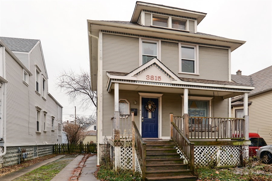 Real Estate Photography - 3815 W. Addison Street, Chicago, IL, 60618 - Front View