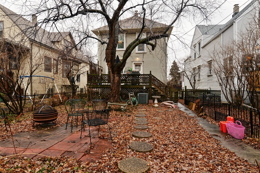 Real Estate Photography - 3815 W. Addison Street, Chicago, IL, 60618 - Rear View