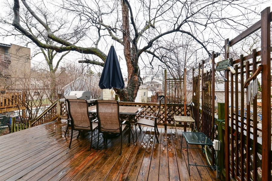 Real Estate Photography - 3815 W. Addison Street, Chicago, IL, 60618 - Deck