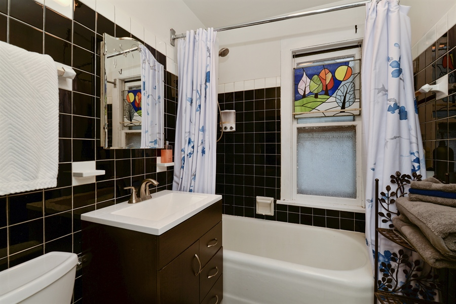 Real Estate Photography - 3815 W. Addison Street, Chicago, IL, 60618 - Bathroom