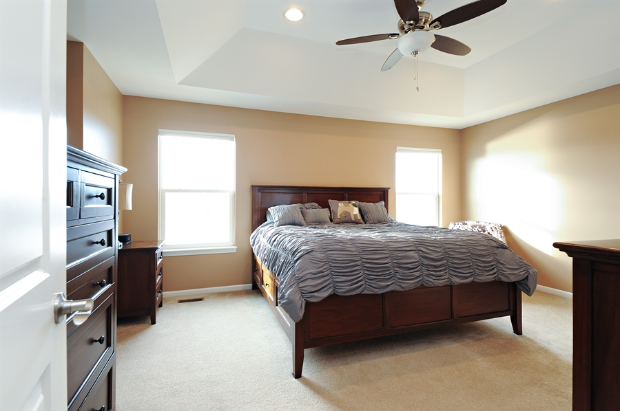 Real Estate Photography - 2365 Kelsey Court, Lindenhurst, IL, 60046 - Master Bedroom